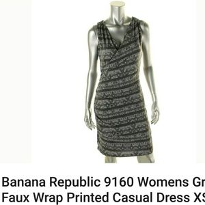 Banana Republic Faux Aline wrap dress