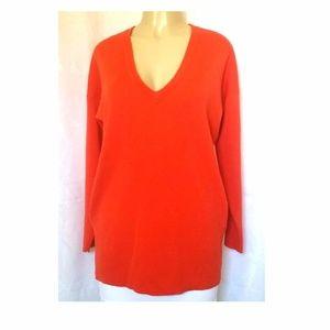 J Crew 100% Merino Wool Sweater Top V Neck XS