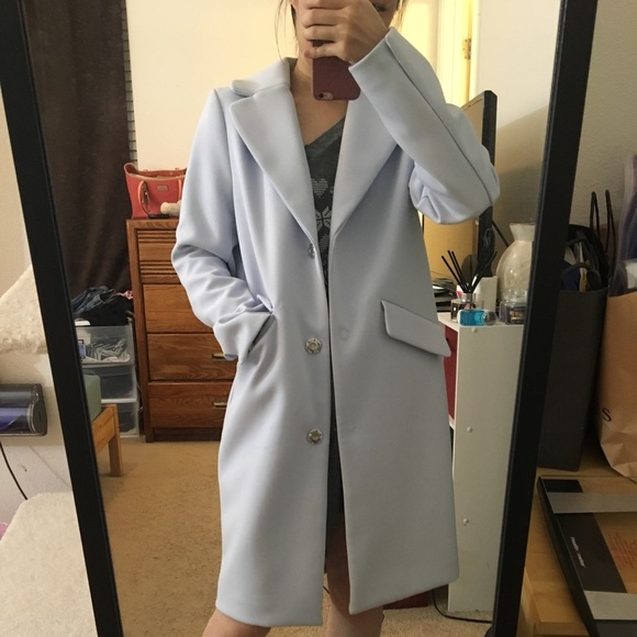 H M Jackets Coats Hm Baby Blue Coat Size 32 Poshmark