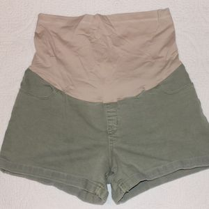 Liz Lange Olive Green Maternity Shorts - Sz Large