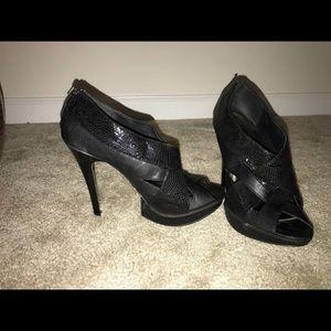 Ankle black heels
