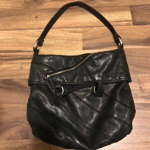 LUCKY BRAND Black Boho genuine leather bag EUC