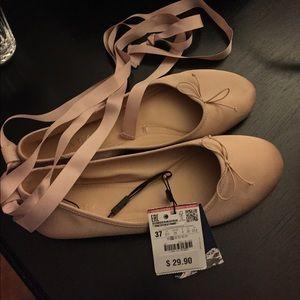 Zara ballet slipper shoes