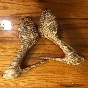 Christian Louboutin Python Very Prive Heels 36.5