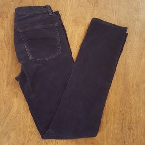Navy Corduroy straight leg pants