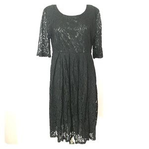 NWT Vintage Style Black Lace Dress