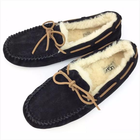 f76d8de1100 UGG Dakota Black Sheepskin Moccasins Slippers