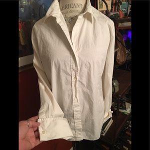 GAP White Cotton Cuffed Shirt