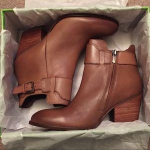 NWOT Cognac Ankle Boots