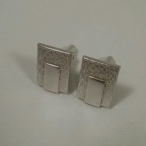 Vintage Silver tone SWANK Cuff links 3/4 inches