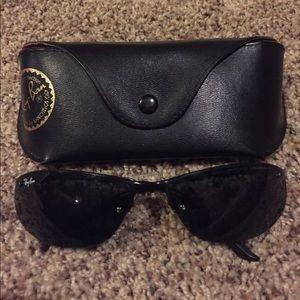 Authentic black Ray Ban unisex sunglasses