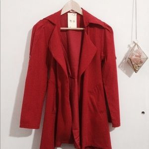 Cozy Red trench coat