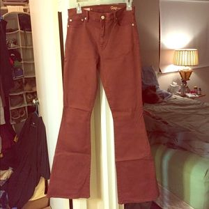 Gap women's rust-colored denim flares