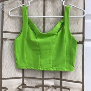 Green Bebe crop top