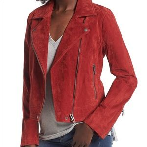 Blank NYC Red Suede Moto