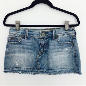 Hollister denim mini skirt