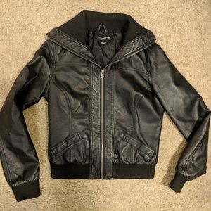 Women's Forever 21 Black Faux Leather Jacket