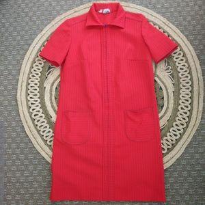Vintage 1960s Zippered Sheath Dress