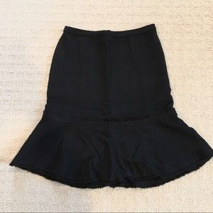 J. Crew black wool boucle trumpet skirt size 6