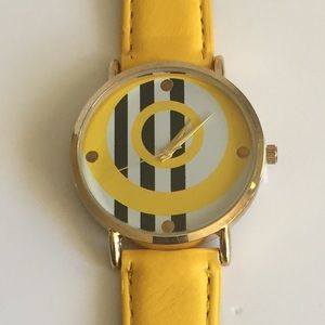 Black, Yellow, & White Watch