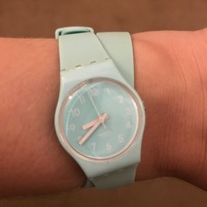Ice Blue Double Wrap Swatch Watch