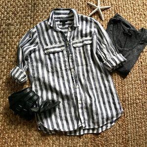J. Crew Linen Button-up Blouse