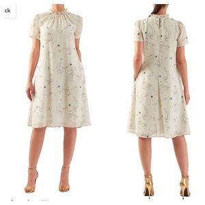 Eshakti Moon and Star Print Dress