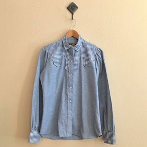 '70s / Kenny Rogers Western Chambray