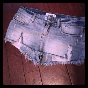 Ripped distressed shorts by VS PINK