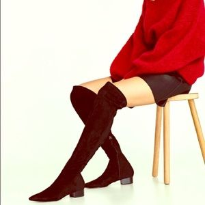 Flat over the knee boots