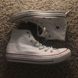 Converse chick taylors white high top