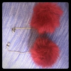 Fuzzy earrings