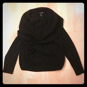 H&M cowl neck black sweater size large