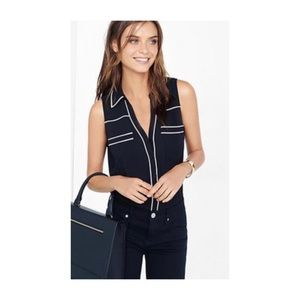 Express Original Fit Sleeveless Portofino Shirt