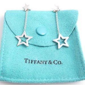Tiffany & CO. star lariat earrings in silver