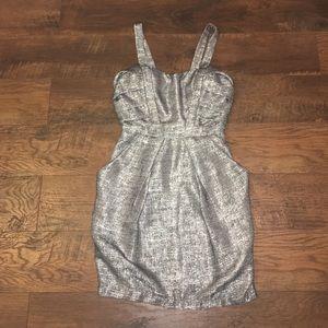 BCBG Metallic and gray dress
