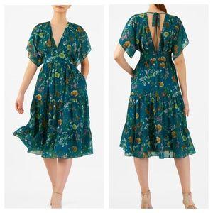 Eshakti Tropical Floral Print Dress