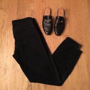 J. Crew black ankle zip corduroys