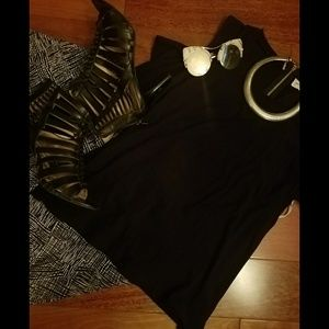 Black and white abstract pants