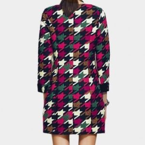 Vanillachocolate houndstooth lined jumper 💕