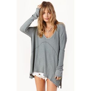 Free People Sunset Thermal Sweater Top