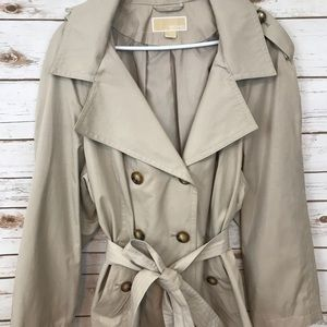 NWOT Michael Kors Lined Hooded Trench Coat
