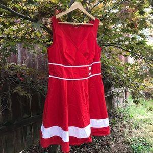 Eshakti Red Nautical Dress