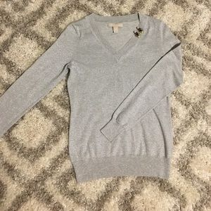 Banana Republic Holiday V-Neck Sweater