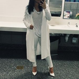 White trench jacket