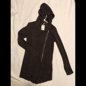NEW H&M hooded zip knit sweater