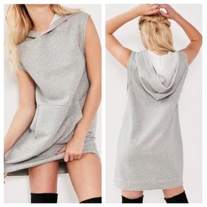 NWT UO Hoodie Sweatshirt Dress Oversized Gray
