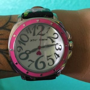 Betsey Johnson Floral Watch