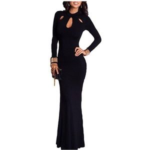 🌸ONE DAY SALE long sleeve black gown🌸