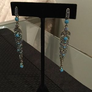 Jewelry - Earrings with Blue Crystals and Blue Stones